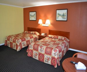 Two Queen Family Room at Alpha Inn